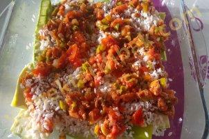 Fırında Pirinçli Kabak Yemeği